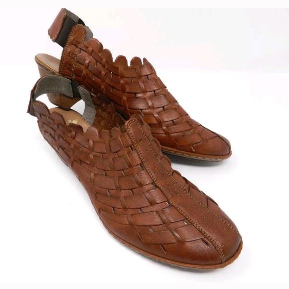 Rieker Antistress Sina 78 Woven Sandals Brown